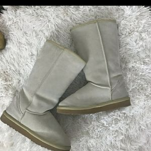 Suede lamb skin fur lined UGG boots